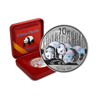 10 Yuan China Panda 2013 Holographics in Box + CoA
