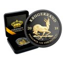 1 OZ Silber Krugerrand 2018 Gold Black Empire Edition