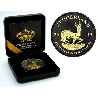 1 OZ Silber Krugerrand 2019 Gold Black Empire Edition
