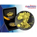 1 OZ Silber Eagle 2019 Gold Black Empire Edition