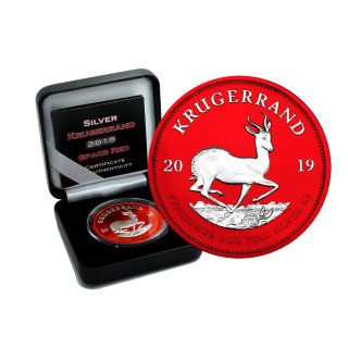 1 OZ Silber Krugerrand 2019 Space Red Edition
