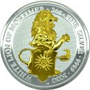 2 OZ Silber Queens Beasts White Lion of Mortimer  2020...