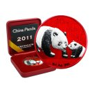 10 Yuan China Panda 2011 Space Red Edition in Box + CoA