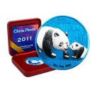 10 Yuan China Panda 2011 Space Blue Edition in Box + CoA