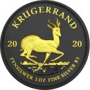 1 OZ Silber Krugerrand 2020 Gold Black Empire Edition