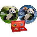 2 x 10 Yuan 2020 China Panda Summer Winter Set