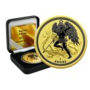 1 OZ Silber Isle of Man Angel  2017  Gold Space Edition