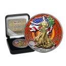 1 DOLLAR USA EAGLE 1 OZ SILBER 2020 Color Ornament...